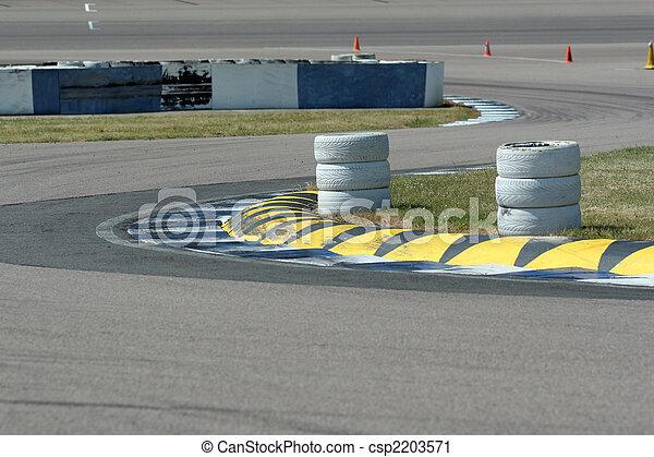 Motorsport Chicane at Rockingham Speedway - csp2203571