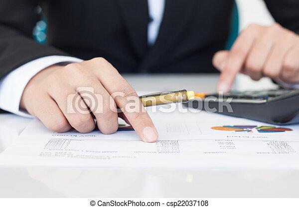 contabilidade, conceito, ou, finanças - csp22037108