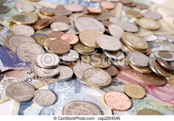 Assortment of Foreign Money - csp2204546