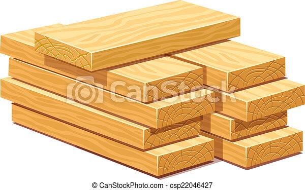 Illustration vecteur de bois tas planches bois - Planche a dessin en bois ...