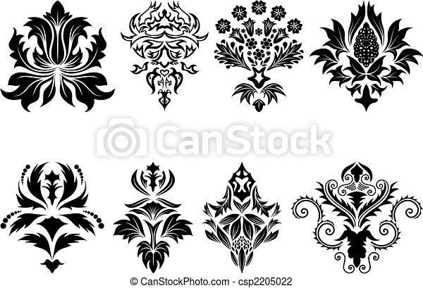 damask emblem set - csp2205022