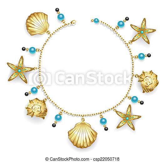 Vector Clip Art of bracelet with seashells - create one bracelet ...