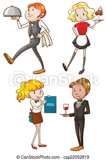 the waiters and waitresses  Waiters And Waitresses Clipart