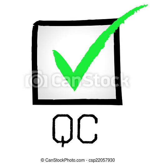 Drawings of Qc Tick Means Quality Control And Approved - Tick Qc ...