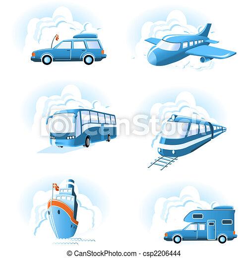 Transport & Travel icons - csp2206444