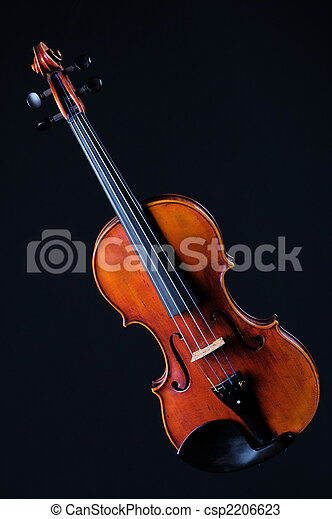 Complete Violin Viola Isolated On Black - csp2206623
