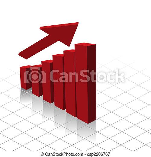 Chart graph profit increase - csp2206767