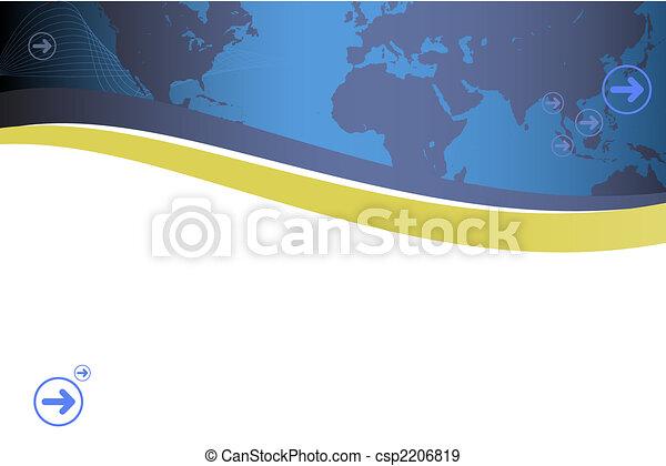 Modern retro map presentation - csp2206819