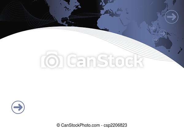 Modern retro map presentation - csp2206823