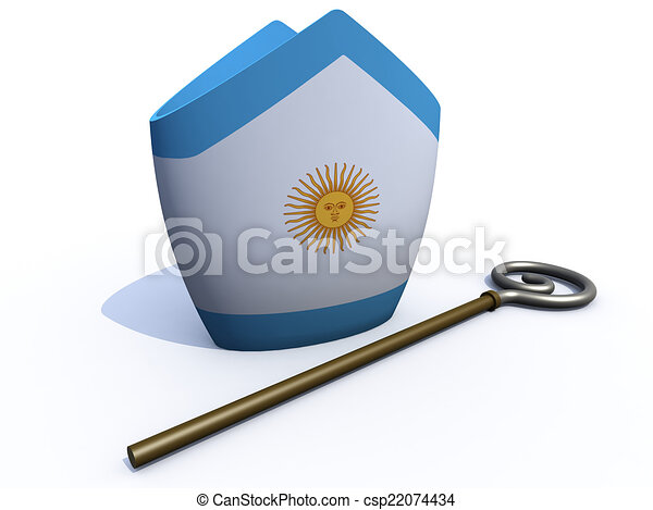 Pope Hat Drawing Argentine Pope Hat And Crosier