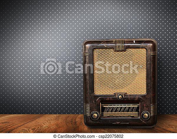 gammal,  radio,  retro - csp22075802
