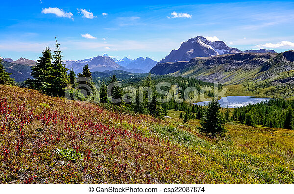 Scenic view of mountains in Banff national park, Canada - csp22087874