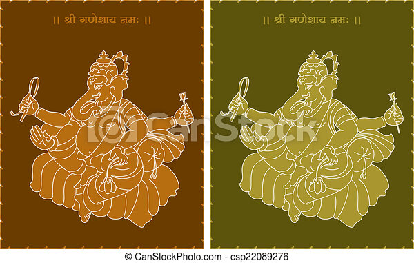 Ganesha The Lord Of Wisdom - csp22089276