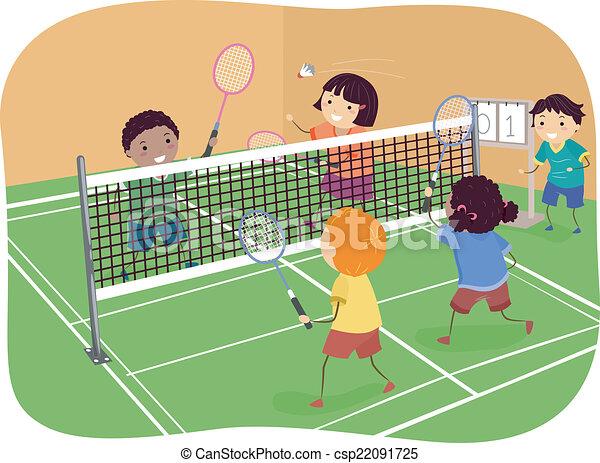 badminton birdie cartoon