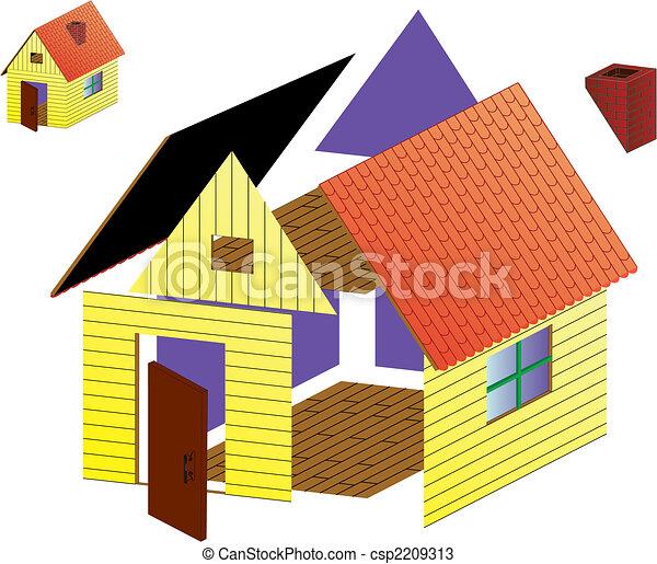 Vector rural house - csp2209313