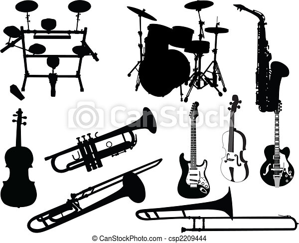 set of musical instruments - csp2209444