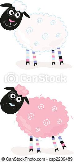 Cartoon sheep - csp2209489