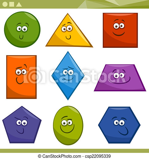 Vecteurs de formes g om trique dessin anim fondamental - Dessin forme geometrique ...