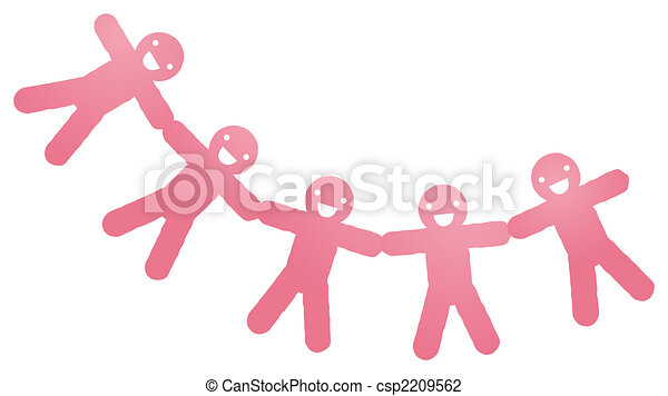 Paper people cut outs - csp2209562