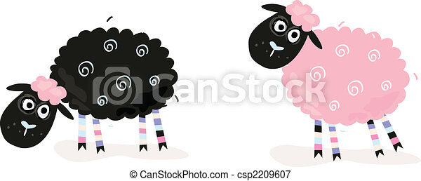 Cartoon sheep - csp2209607