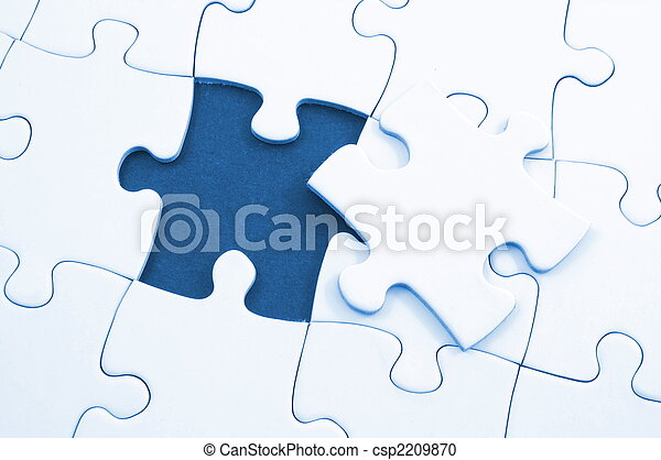 blank puzzle with missing piece - csp2209870