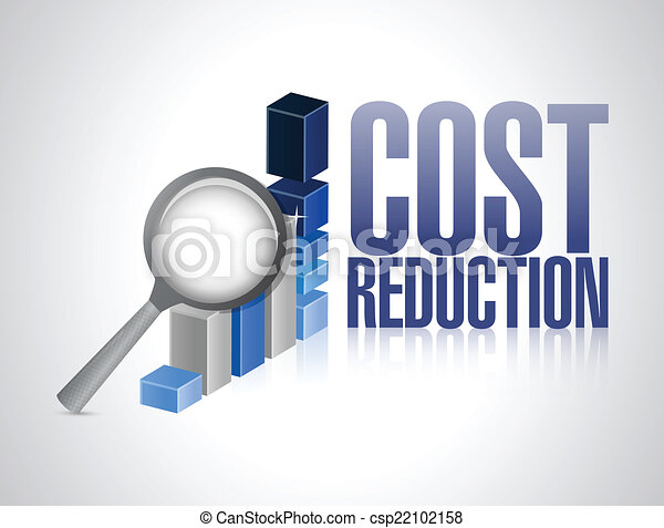 Clipart Vector of cost reduction business graph ...