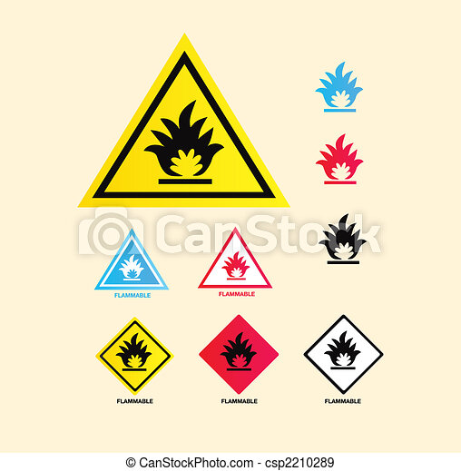 Flammable warning sign - csp2210289