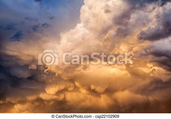 After storm cloudscape