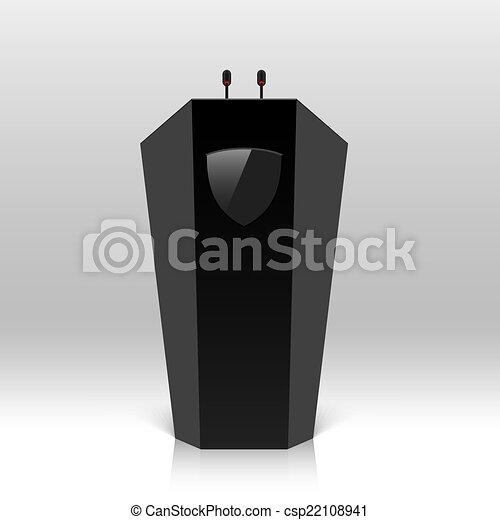 Rostrum with microphones - csp22108941