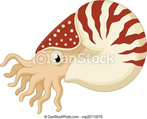 Cartoon nautilus - csp22110076