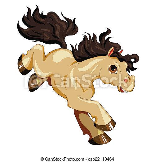 pony - stock illustration, royalty free illustrations, stock clip art ...