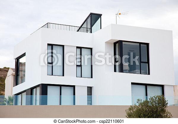 Exterior of Modern White House