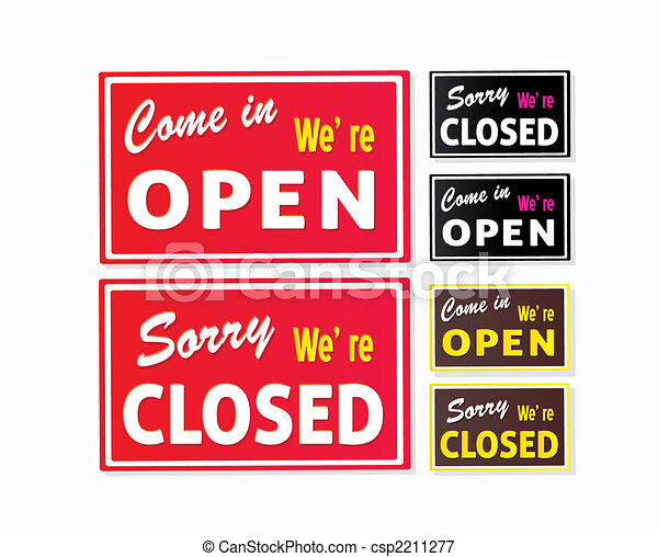 Open and Closed store signs - csp2211277