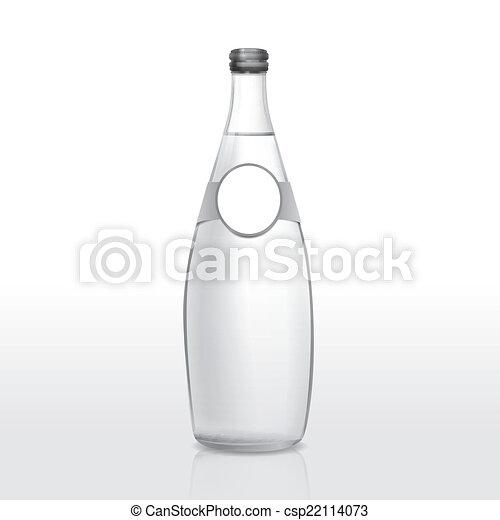 Glas leer clipart  Vektoren Illustration von glas, leer, flasche, etikett - glas ...
