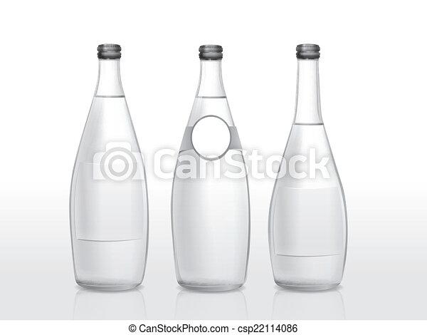 Glas leer clipart  Vektor von glas, leer, flasche, etikett - glas flasche, mit, leer ...