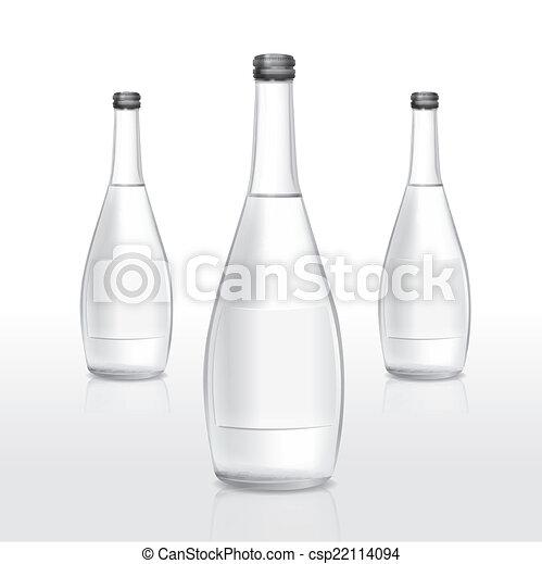 Glas leer clipart  EPS Vektoren von glas, leer, flasche, etikett - glas flasche, mit ...