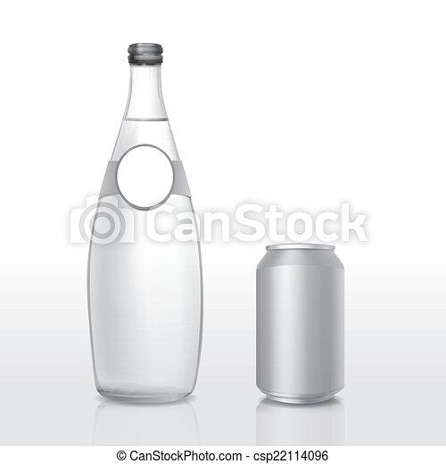 Glas leer clipart  EPS Vektoren von glas, leer, buechse, flasche, etikett - glas ...