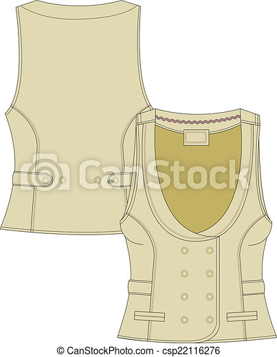 womans tailor  fitted vest - csp22116276