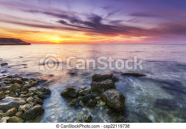 stunning landscape with panoramic views of the Bay at sunset