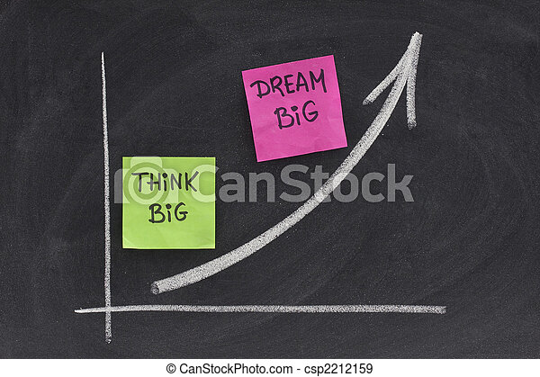 think big, dream big concept on blackboard - csp2212159