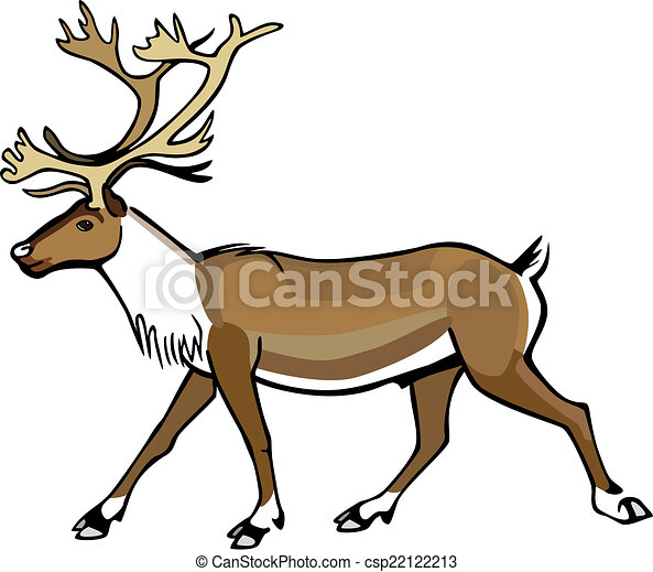 how to draw a caribou
