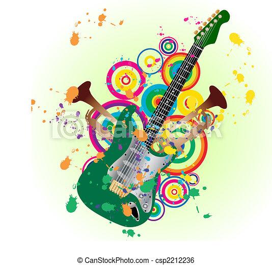 Clip Art Vector... Free Vector Guitar Clip Art