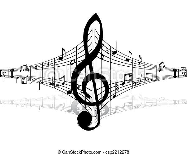musical staff theme - csp2212278