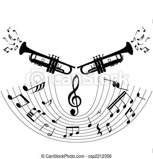 Clip Art Vector of musical staff theme - Musical notes staff theme ...