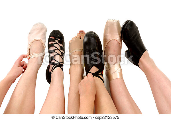 Picture of Styles of Dance Shoes in Feet - Six Genres of Adult ...