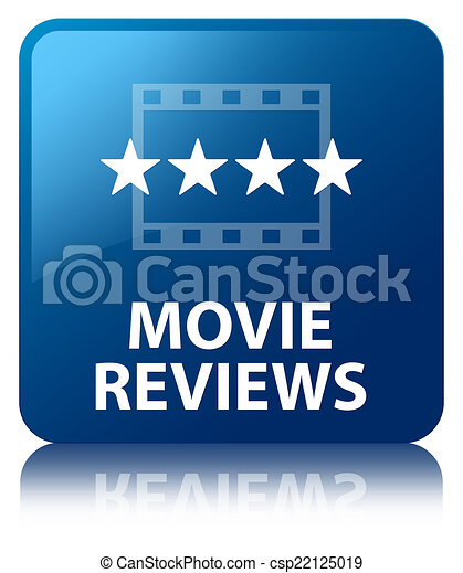 clipart of movie reviews glossy blue reflected square