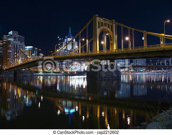 Pittsburgh Bridges at Night - csp2212602