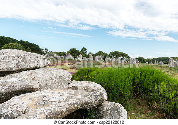 stock photography of dolmen and menhir in carnac france dolmen and menhir in csp22128812. Black Bedroom Furniture Sets. Home Design Ideas