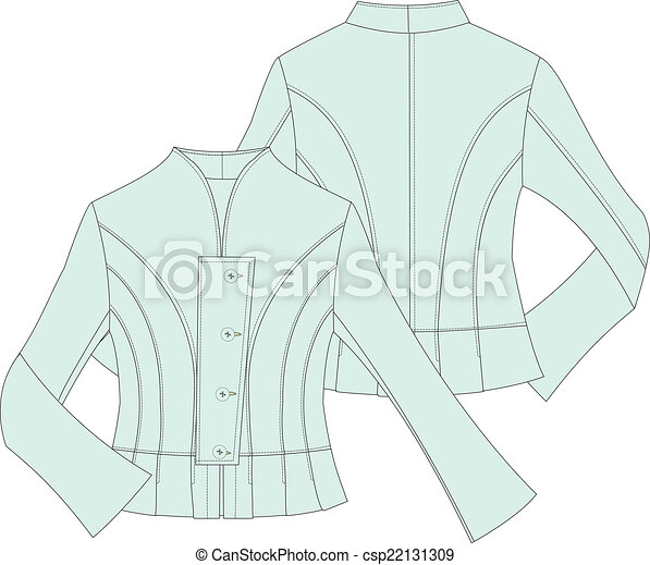 womans tailor  fitted jacket - csp22131309