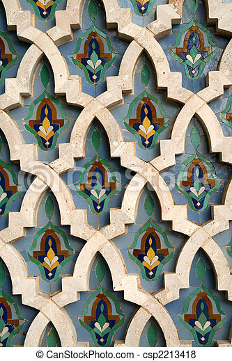 Moroccan Tile Background - csp2213418